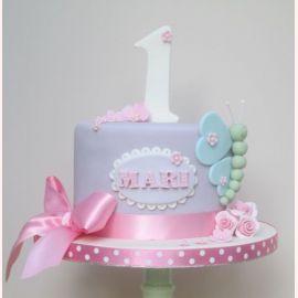 "Торт на 1 год ""Голубая бабочка"""