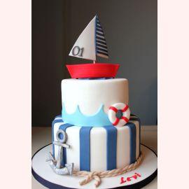 "Торт на 1 год ""Корабль удачи"""