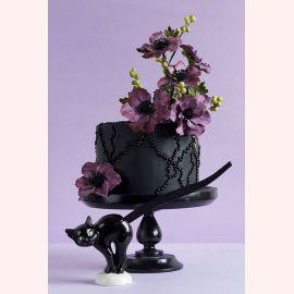 """Торт """"Орхидея с черными бусами"""""""