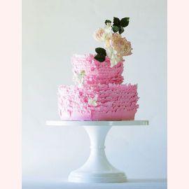 """Торт """"Чайная роза на розовой пышной юбке"""""""