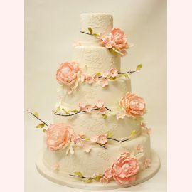 """Торт """"Веточки с цветами"""""""