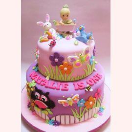 """Торт на 1 годик """"Малышка Натали"""""""