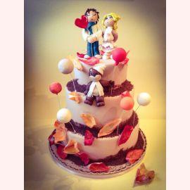 """Торт для влюбленных """"Осень, я в любви!"""""""