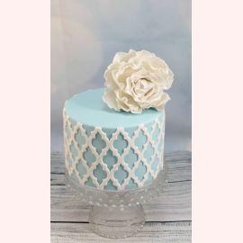 "Торт ""Пион на голубом фоне"""
