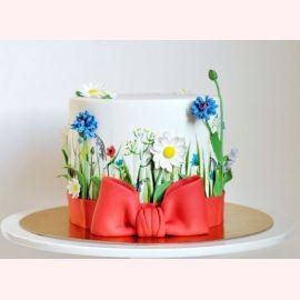"""Торт на 8 марта """"Миленькие цветочки"""""""
