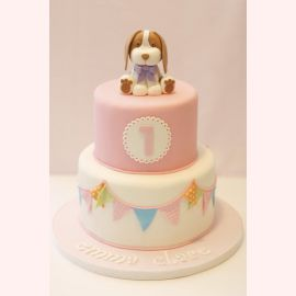 "Торт на 1 год ""Маленький Тузик"""