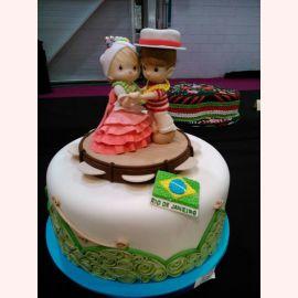 """Торт для влюбленных """"Танец на карнавале"""""""