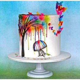 """Торт для влюбленных """"Радужный день"""""""