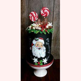 """Торт на Новый год """"Санта и леденцы"""""""