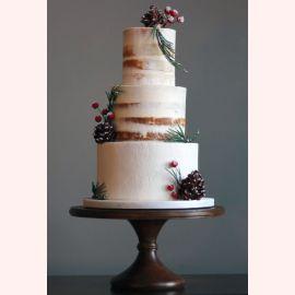 """Новогодний торт """"Шишки на торте"""""""