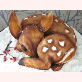 """Торт на Новый год """"Малыш олененок"""""""