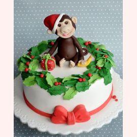 """Торт на Новый год """"Подарок от обезьяны"""""""