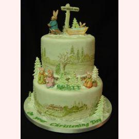 """Торт на Новый Год """"Новогодние кролики"""""""