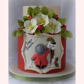 """Торт на Новый Год """"Dear Santa..."""""""