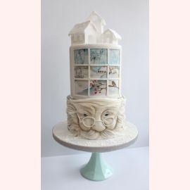 """Торт на Новый Год """"Мороз за окном"""""""