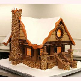 """Торт на Новый Год """"Дом в зиме"""""""