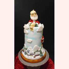 "Торт на Новый год ""Дед Мороз и письмо"""
