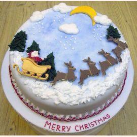 """Торт на Новый год """"Новогодний путь"""""""