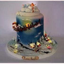 """Торт на Новый Год """"Волшебный новогодний сон"""""""