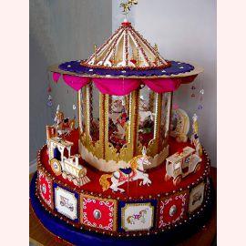 """Торт на 1 год """"Красочная карусель"""""""