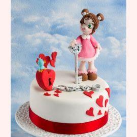 """Торт для влюбленных """"Сердце на замок"""""""