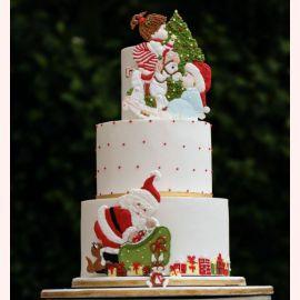 """Торт на Новый год """"Игры у елки"""""""