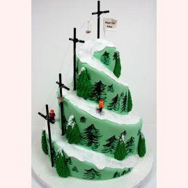 """Торт на Новый год """"Елочки на спуске"""""""