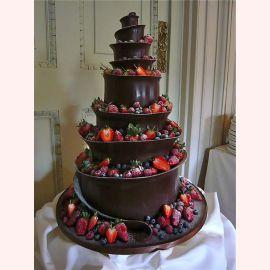 """Торт """"Клубничная волна в шоколаде"""""""