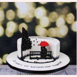 """Торт для влюбленных """"Скамейка примирения"""""""