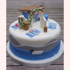 """Торт """"Цветочная арка в саду"""""""
