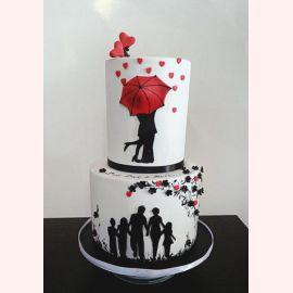"""Торт для влюбленных """"Дождь из сердец"""""""