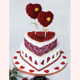 """Торт для влюбленных """"Сердечные розы"""""""