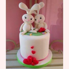 """Торт для влюбленных """"Любимый зайка"""""""