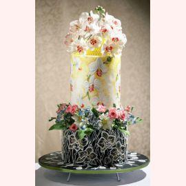 """Торт """"Орхидея на цветочной поляне"""""""