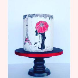 "Торт ""Нарисованный Париж"""