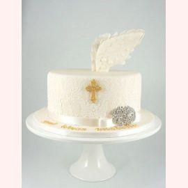 """Торт на крещение """"Крылья Ангела"""""""
