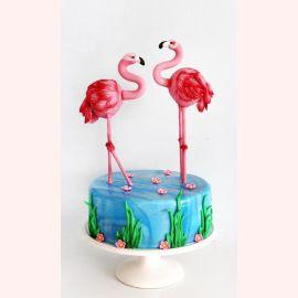 """Торт """"Влюблённые фламинго"""""""