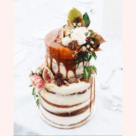 """Торт """"Цветы и инжир"""""""