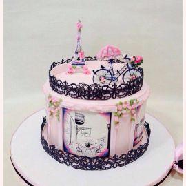 """Торт """"Цветочный Париж"""""""