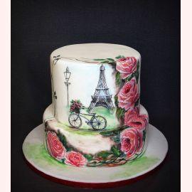 """Торт """"Улицы Парижа. Розы"""""""