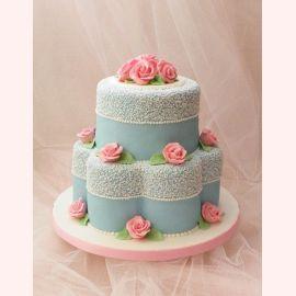 """Торт """"Маленькие розовые розочки"""""""