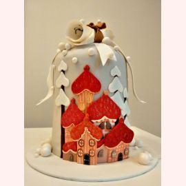"""Торт на Новый год """"Дворец Дедушки Мороза"""""""