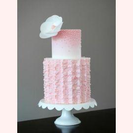 """Торт """"Розовая нежность и орхидея"""""""