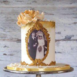 """Торт """"Золотая свадьба родителей"""""""