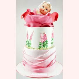 "Торт ""Лялечка в красивом цветке"""