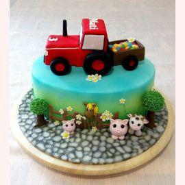 "Торт ""Для маленького тракториста"""
