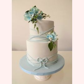 """Торт """"Цветы голубой фрезии"""""""