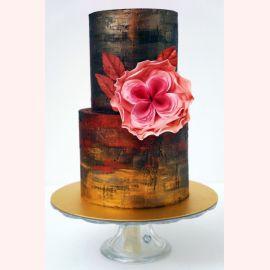 """Торт """"Необычный розовый цветок"""""""
