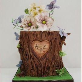 """Торт """"Свадебный деревянный пенек"""""""