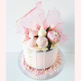"""Торт на 8 марта """"Шикарные розовые пионы"""""""